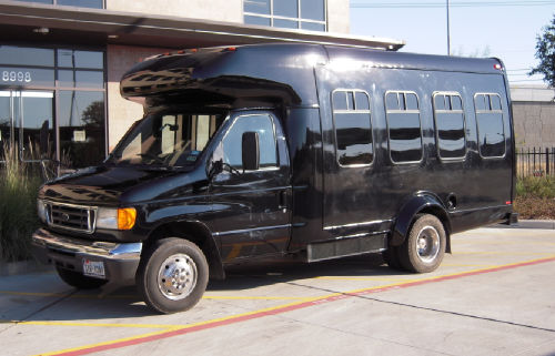 Austin Black Party Bus Side View
