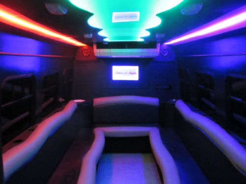 Austin Black Party Bus Interior