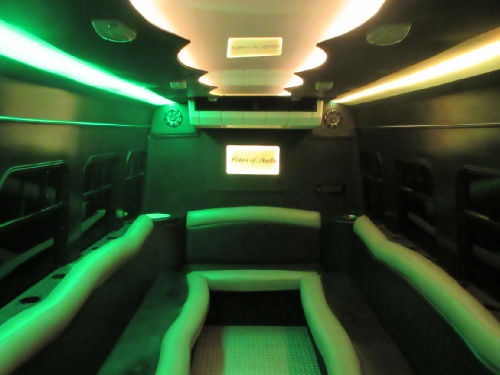 Austin Black Party Bus Interior 2