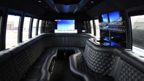 Austin Black Luxury Party Bus Interior 3