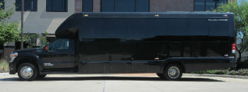 Luxury Limo Bus Side View