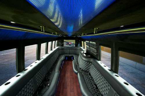 Luxury Limo Bus Interior 2