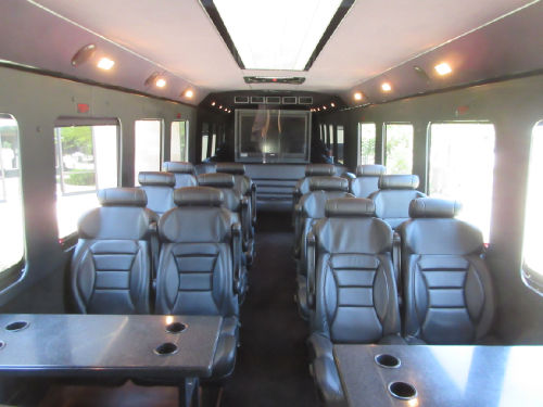 Executive Shuttle Bus Austin Interior