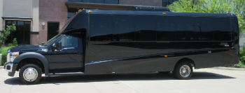Austin Corporate Executive Shuttle Bus Side View