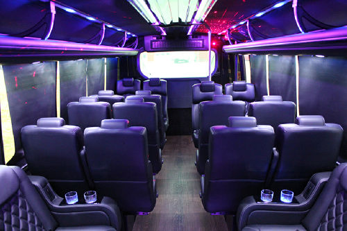 Austin Corporate Executive Shuttle Bus Interior 3